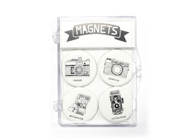 Retro Camera Magnet Set