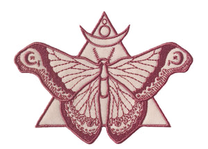 Rose Moth Iron-On Patch