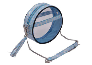 The Roundie Clear Crossbody In Caribbean Mermaid