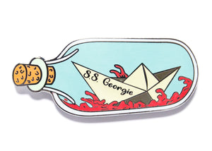 SS Georgie In A Bottle Enamel Pin