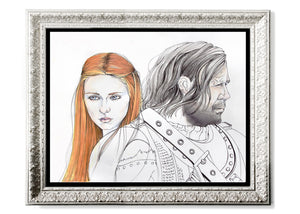 Sansa & The Hound Art Print