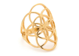 Seed of Life Ring in Gold