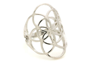 Seed of Life Ring in Sterling Silver