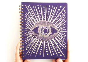 Seeing Eye Journal in Deep Purple