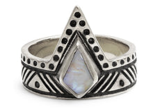 Seeker Ring in Silver & Moonstone
