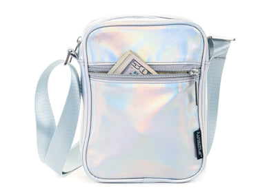 Sidekick Brick Bag In Iridescent Silver