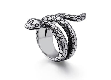 Snake Ring in Stainless Steel