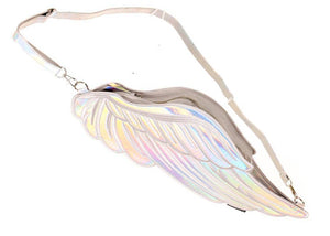 Holographic Silver Quiver Wing Backpack