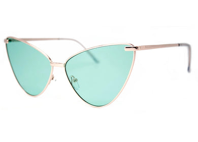Sissy Sunglasses in Gold & Green