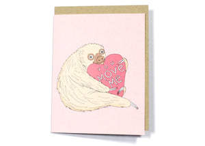 You Move Me Sloth Card