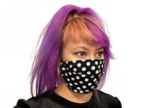Small Polka Dots Reversible Face Mask