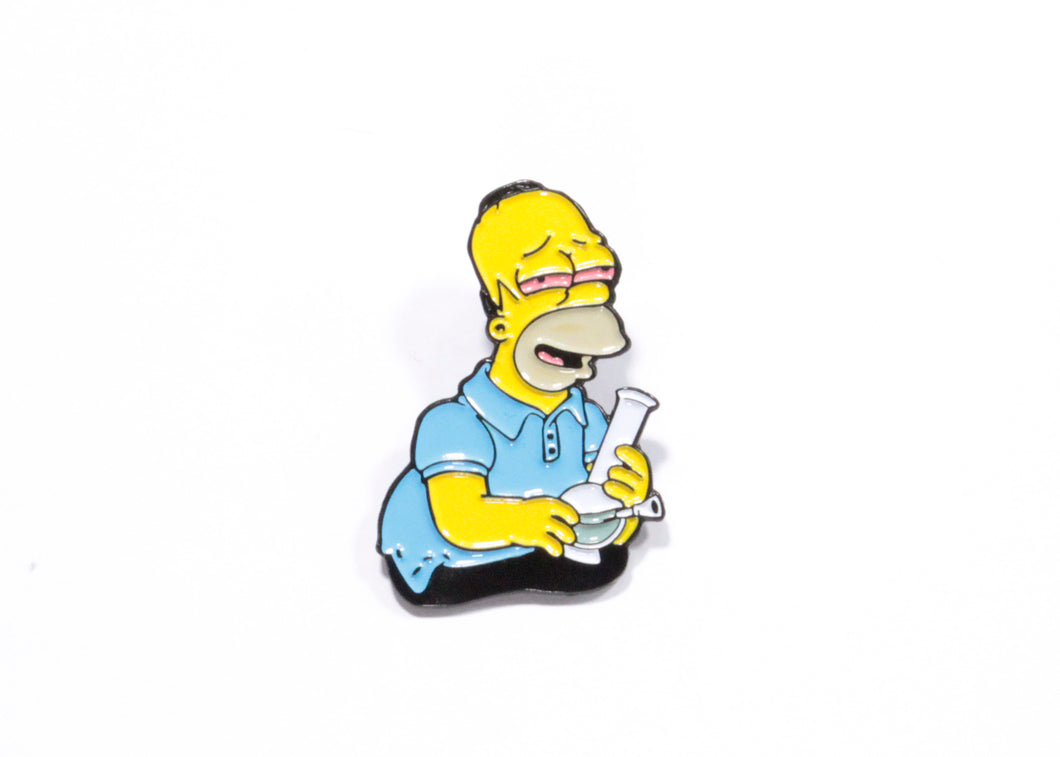 Smoking Homer Enamel Pin