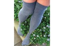Solid Over The Knee Socks In Denim