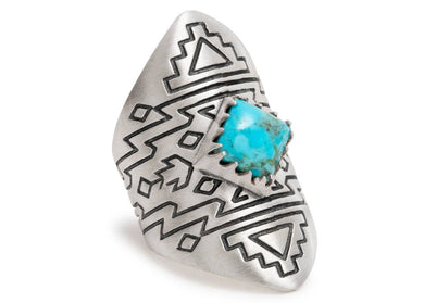Spirit Ring in Sterling Silver & Turquoise