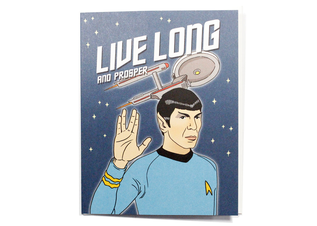 Spock Live Long and Prosper Birthday Card