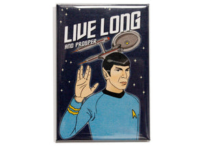 Spock Live Long And Prosper Magnet