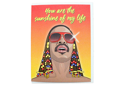 Stevie Wonder Sunshine Card
