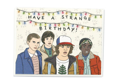 Stranger Things Birthday Card