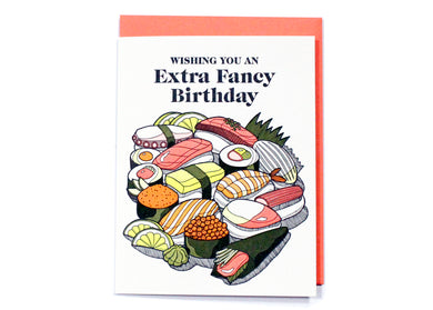 Extra Fancy Sushi Birthday Card