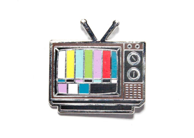 TV Enamel Pin
