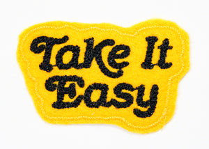 Take It Easy Chain Stitched Sew-On Patch