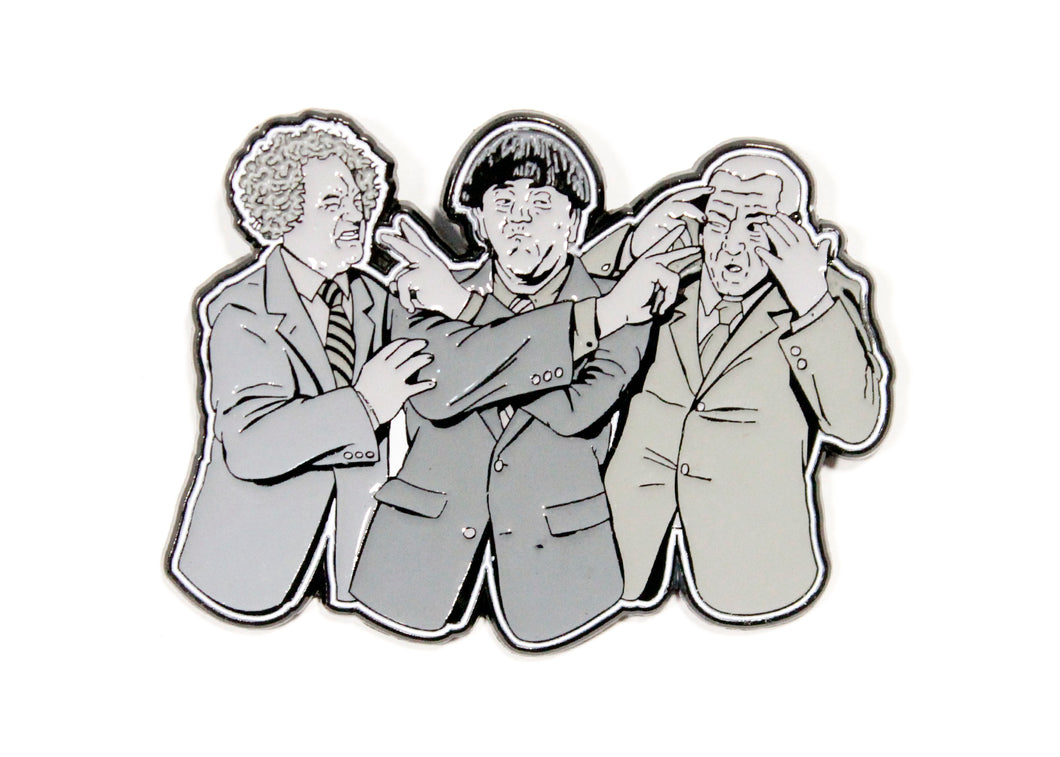 Three Stooges Enamel Pin