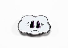 Sad Cloud Enamel Pin