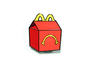 Unhappy Meal Enamel Pin