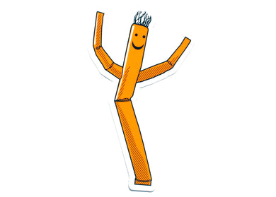 Wacky Waving Man Sticker