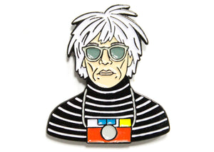 Andy Warhol Camera Enamel Pin