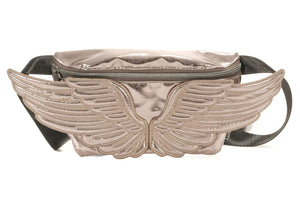 Wings Fanny Pack In Gunmetal