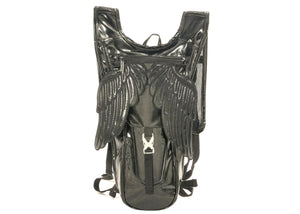 Wings Hydro Backpack In Metallic Black