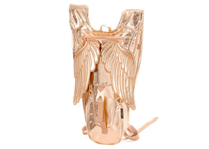 Wings Hydro Backpack In Metallic Rose Gold