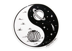 Space Yin-Yang Sticker