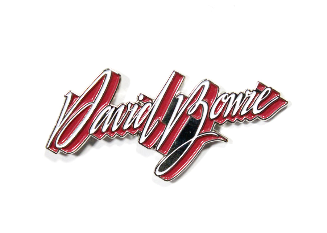 David Bowie Young Americans Logo Enamel Pin