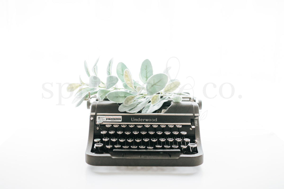 Greenery & Typewriter 2