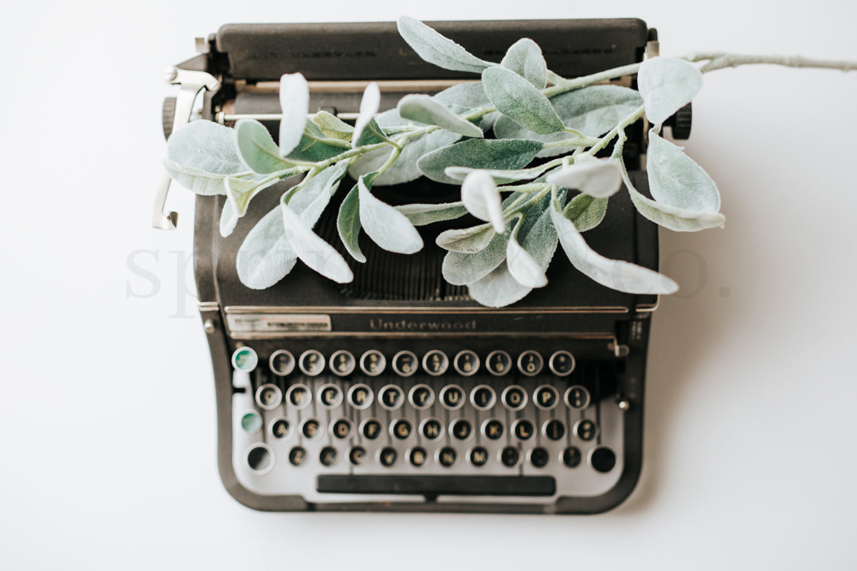 Greenery & Typewriter 4