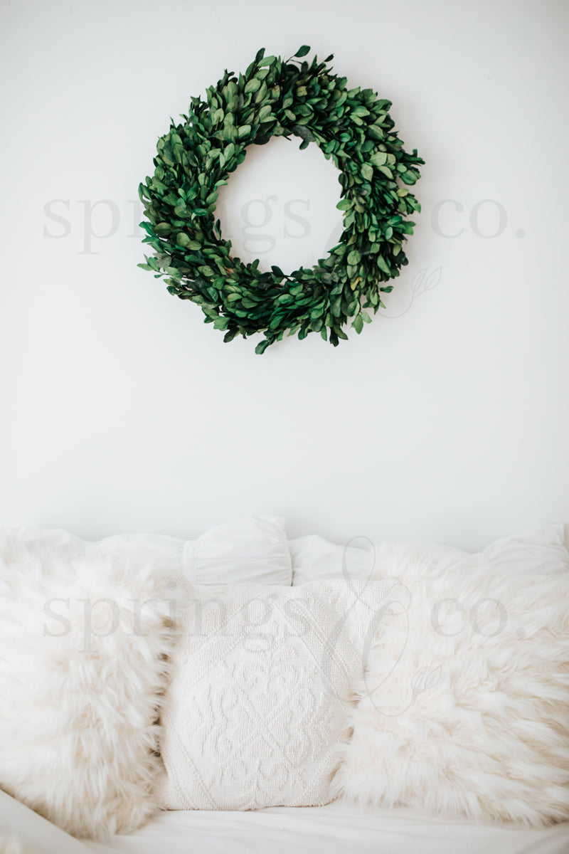 Wreath over Bed