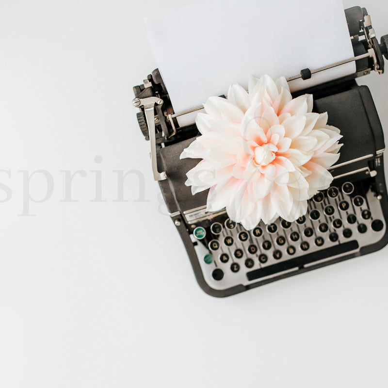 Typewriter & Flower