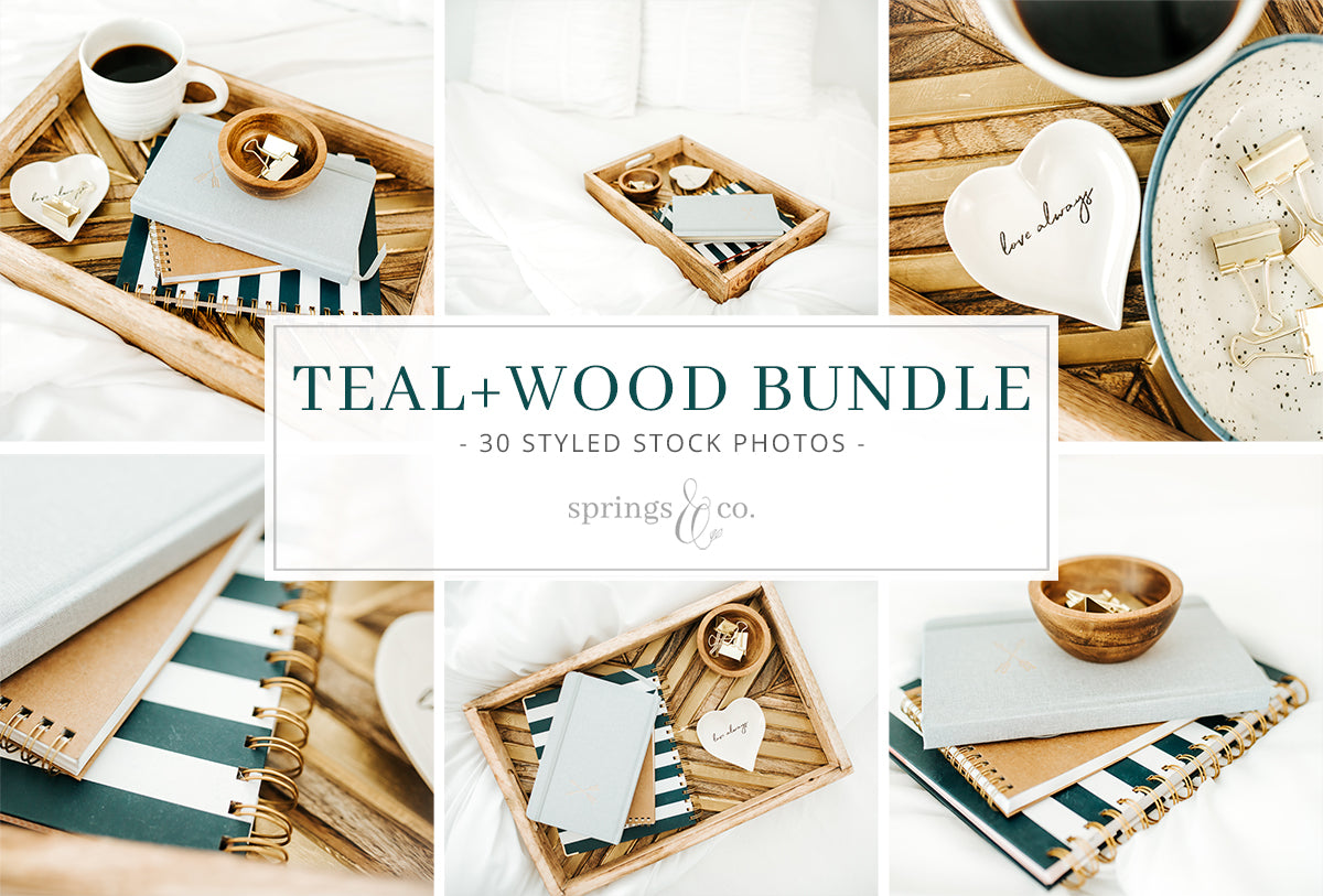 Teal + Wood Bundle