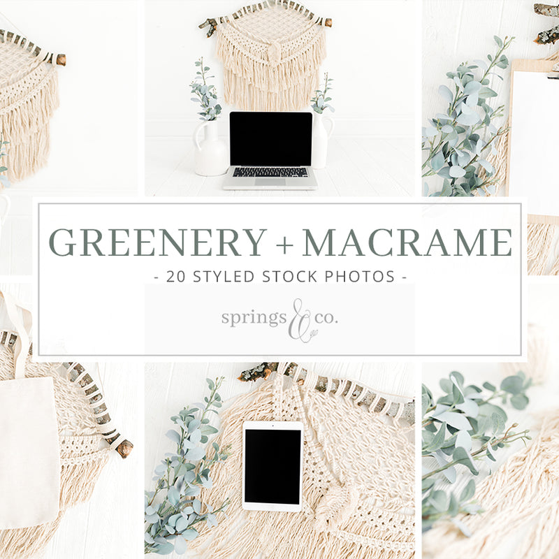 Greenery + Macrame Bundle