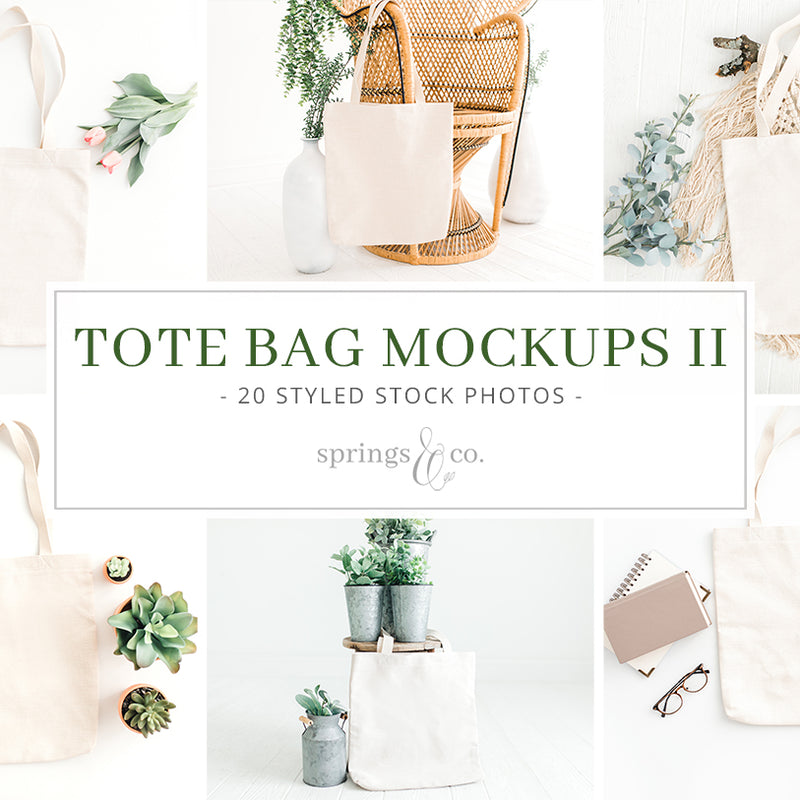 Tote Bag Mockups II Bundle