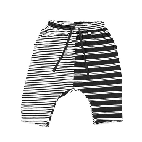 2 STRIPE LOW CROTCH TRACK SHORTS