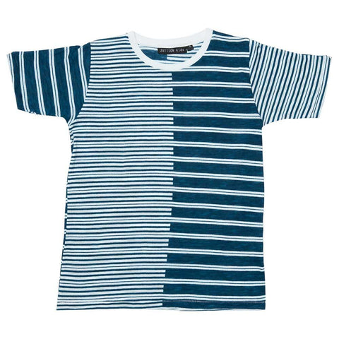 TEE - 2 STRIPES ROUND NECK
