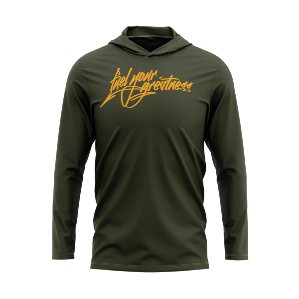 Fuel Your Greatness Lightweight Hoodie | Military Green