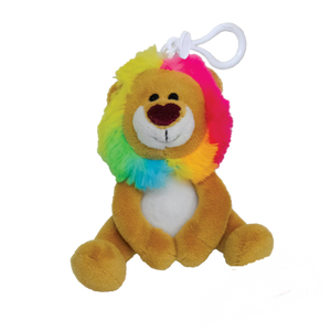 iScream Mini Squishem Lion Plushie Vanilla Scented Backpack Clip