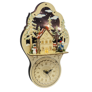 CBK Midwest Lighted LED Village Wall Clock - TGC Toys and Gifts