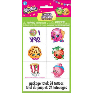 Shopkins Temporary Tattoos - TGC Toys and Gifts