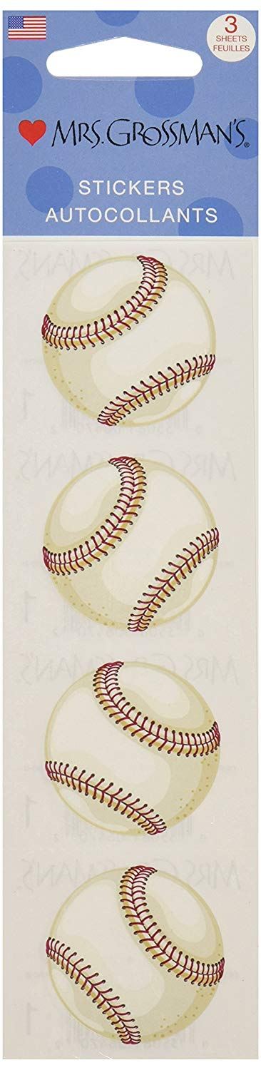 Mrs. Grossman's Baseball AutoCollants Stickers - TGC Toys and Gifts