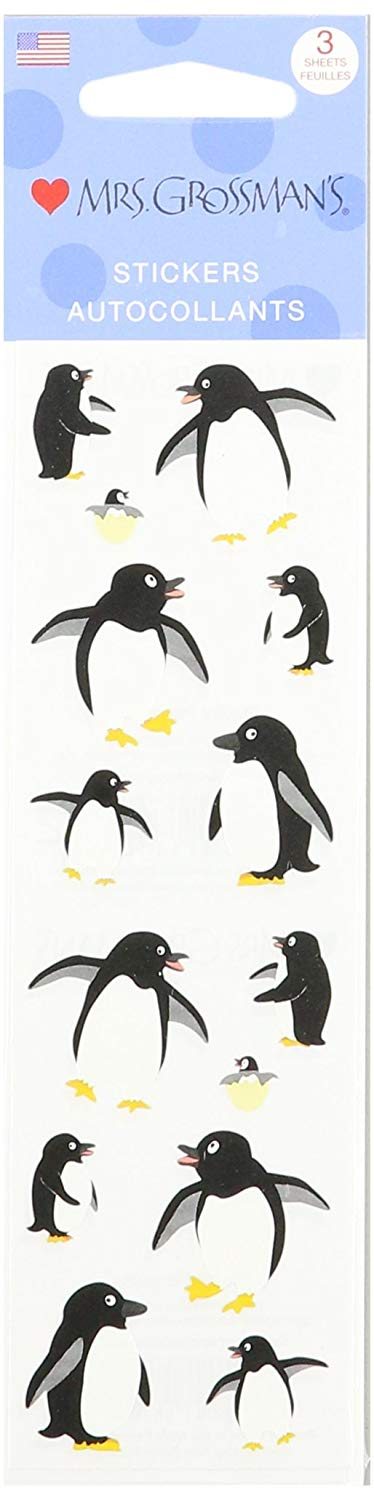 Mrs. Grossman's Playful Penguins AutoCollants Stickers - TGC Toys and Gifts